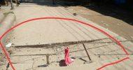 কাজ শেষ করার ১ মাসের মধ্যেই দক্ষিণ ভার্থখলায় নবনির্মিত স্ল্যাব ভেঙে পড়েছে