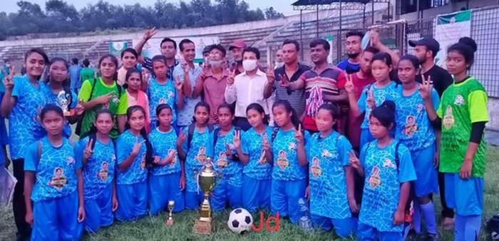 বঙ্গমাতা গোল্ডকাপ ফুটবলে শ্রীমঙ্গল বালিকা দল চ্যাম্পিয়ন