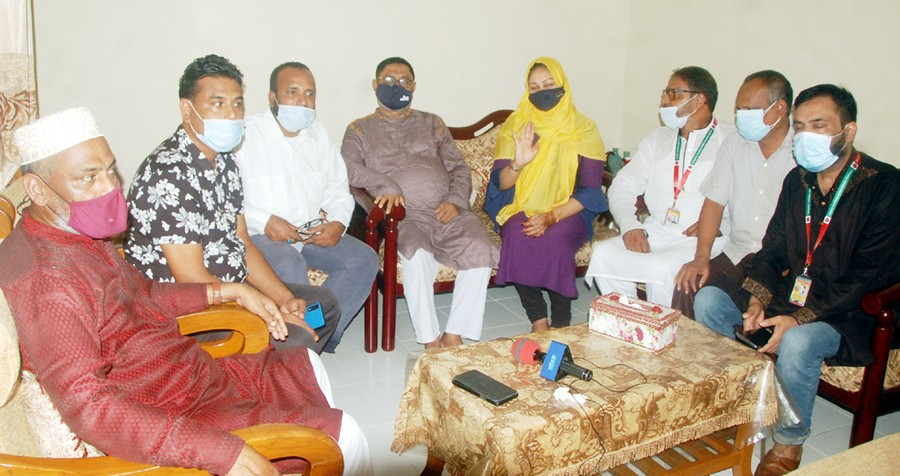 প্রবাসী জামিলার সাথে মানবাধিকার কর্মীদের সাক্ষাৎ